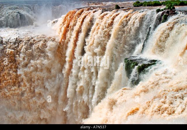 Brazil Iguazu Falls spectacular view - Stock Image