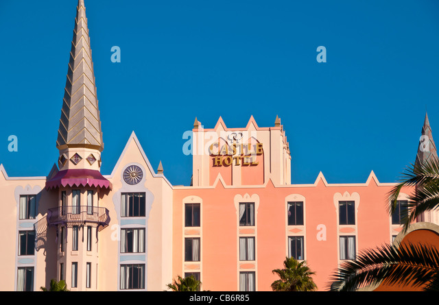 Orlando, Florida, Castle Hotel near International Drive - Stock Image