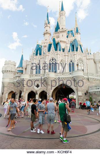 Cinderella Castle at Magic Kingdom, Walt Disney World - Orlando, Florida USA - Stock Image