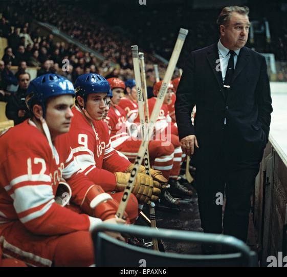 Soviet ice-hockey coach Anatoly Tarasov, 1971 - Stock Image