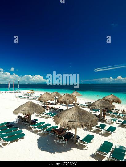 Cancun beach Mexico - Stock-Bilder