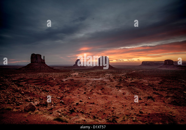 Monument Valley in the Navajo Tribal Park - Stock-Bilder