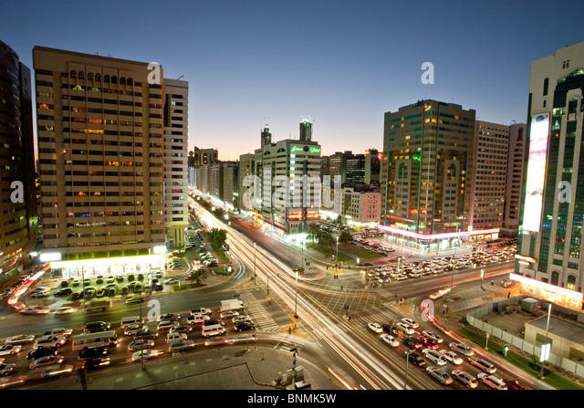 Abu Dhabi UAE United Arab Emirates Middle East traveling place of interest landmark - Stock Image