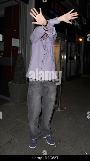 Tim Westwood appears embarassed to be photographed Television X Soft And Hard Adult Film And Television Awards (SHAFTA's) - Stock Image