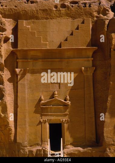 MADAIN SALAH SAUDI ARABIA Asia Saudi Arabia - Stock-Bilder