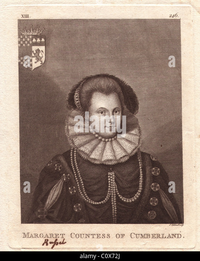 Margaret Clifford, nee Russell, Countess of Cumberland (1560-1616) - Stock Image