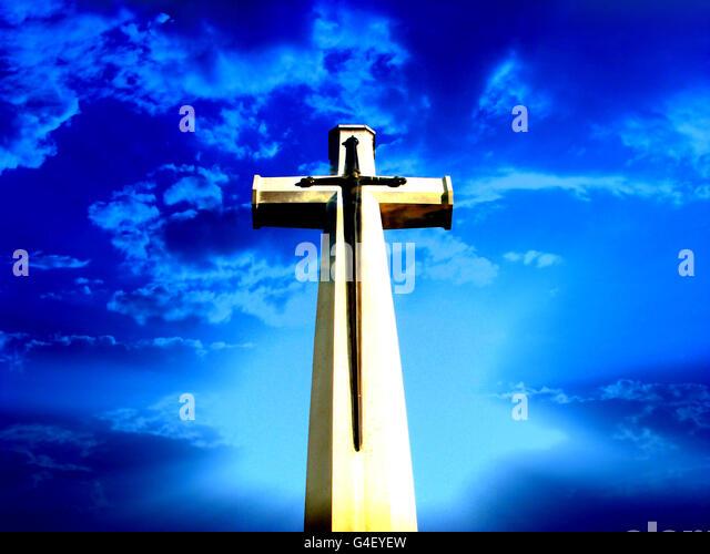 Heavenly Holy Cross - Stock Image