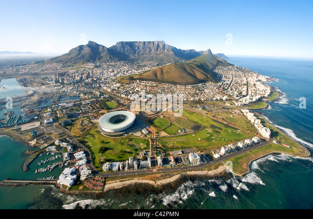 Aerial view of the city of Cape Town, South Africa. - Stock Image