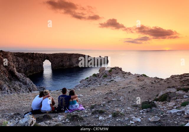 Spain, Balearic Islands, Menorca (Minorca), Pont d'en Gil - Stock-Bilder