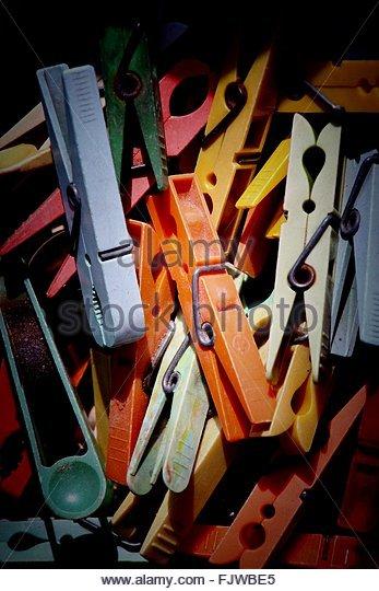 Detail Shot Of Wooden Pegs - Stock-Bilder