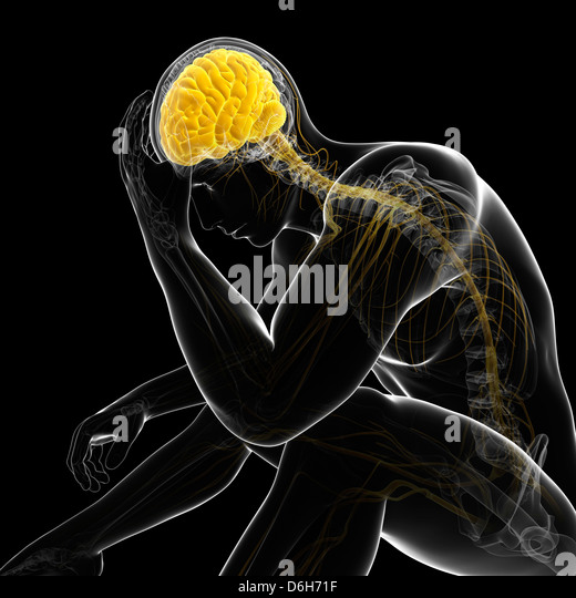Depression, conceptual artwork - Stock Image