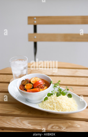 Couscous and Ratatouille - Stock Image