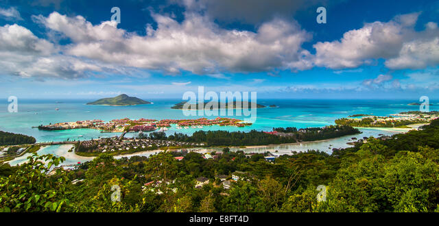 Seychelles, Victoria, Picture of tourist resort - Stock-Bilder