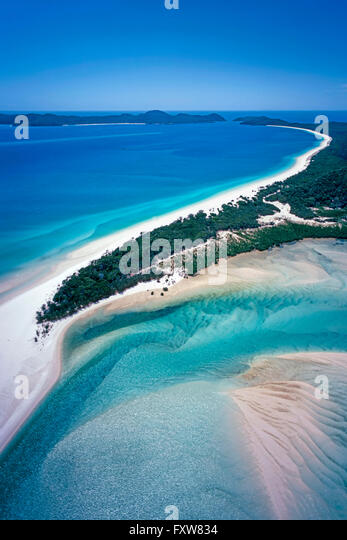 Aerial Shot of Whitsunday Islands in Queensland, Australia - Stock Image