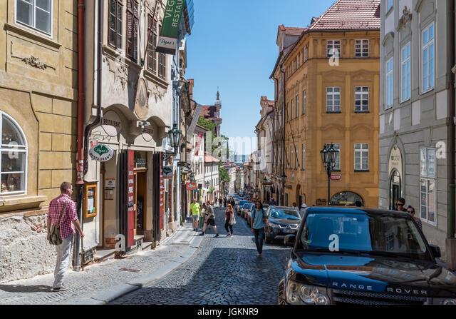 Streets of Mala Strana, Prague - Stock Image