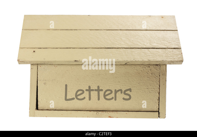 Wooden Mail Box - Stock Image