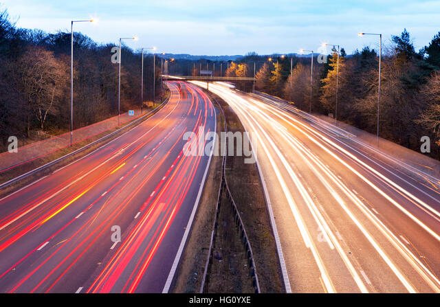 M6 Preston, Lancashire. 3rd Jan 2017.  It was back to work & back to business for the UK today, as millions - Stock Image