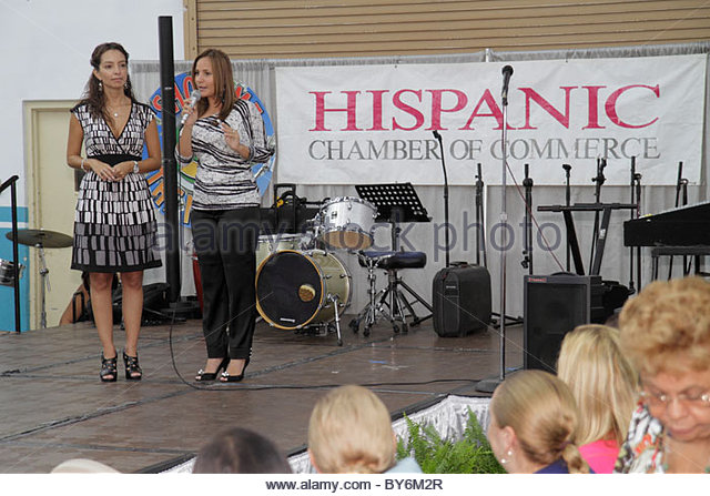 Miami Florida Doubletree Miami Mart Hotel Exhibition Center centre Hispanic Business Expo Festival Chamber of Commerce - Stock Image