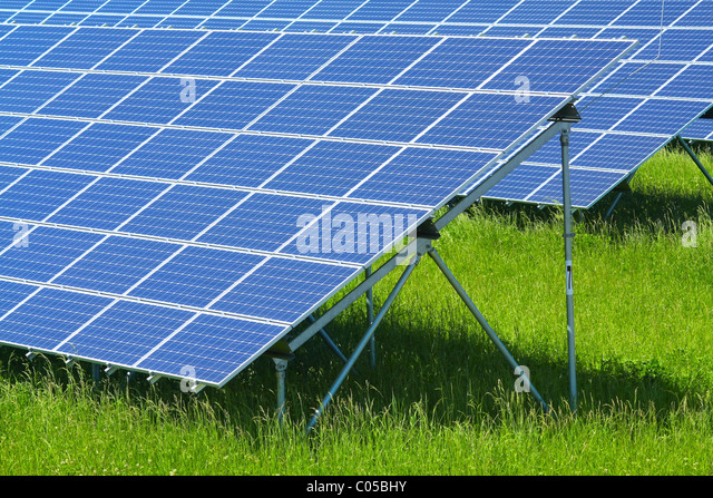 solar power plant - Stock Image