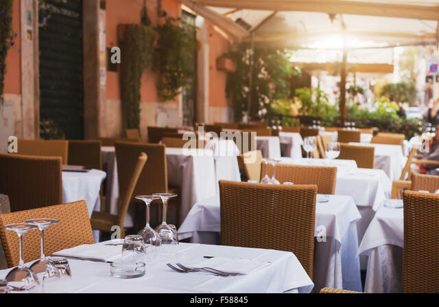 Italian restaurant inside stock photos italian for Terrace 45 menu