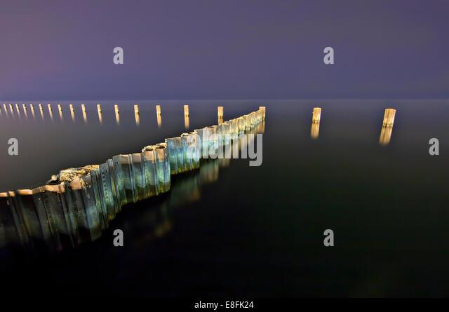 USA, Illinois, Cook County, Chicago, Lake Michigan - Stock Image