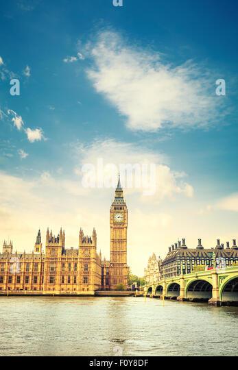 Big Ben in London - Stock Image