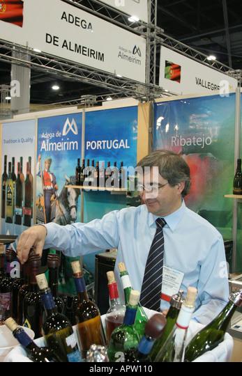 Miami Beach Florida Convention Center Wine and Spirits Expo Portugal exhibitor - Stock Image