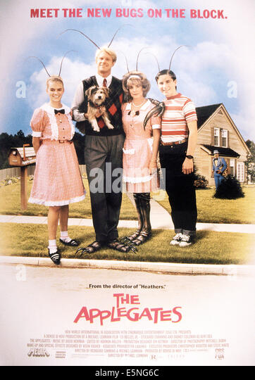 MEET THE APPLEGATES, from left: Camille Cooper, Ed Begley Jr., Stockard Channing, Bobby Jacoby, 1990, © Triton - Stock Image