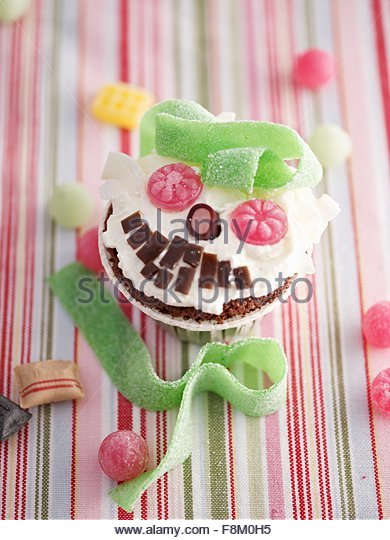 Monster cupcake - Stock Image