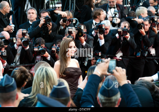 Europe, France, Alpes-Maritimes, Cannes film festival. The actress Angelina Jolie. - Stock-Bilder