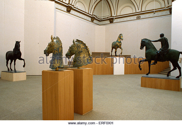 'The Horse of San Marco' - exhibition presented by Royal Academy, 1979. Four bronze horses originally part - Stock Image