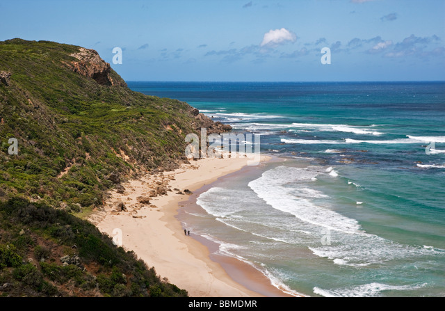 Australia, Victoria. The lookout at Glenaire off the Great Ocean Road, southwest of Melbourne. - Stock Image