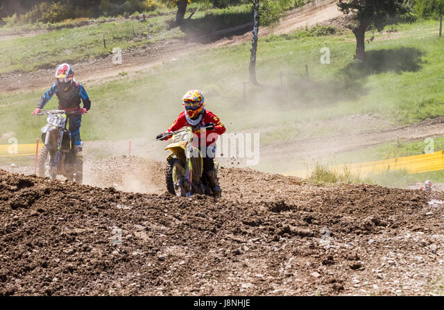 Motocross Kleinhau - 1st heat Women DAM Meisterschaft - 27th of May 2017 - Kleinhau, Hürtgen, North Rhine Westphalia, - Stock Image