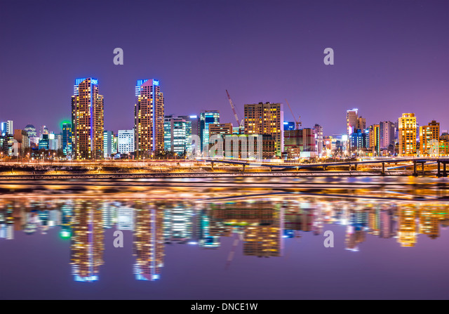 Seoul, South Korea city skyline - Stock Image