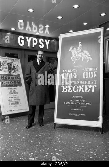 David Merrick, 1960 - Stock Image