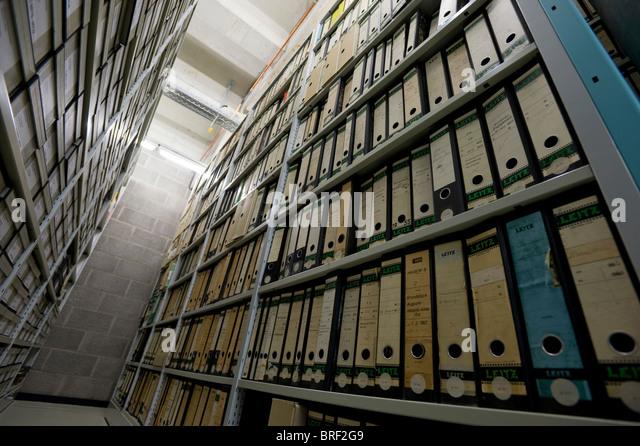 Archive of the Deutsches Technikmuseum, German museum of Technology, Berlin, Germany, Europe - Stock-Bilder