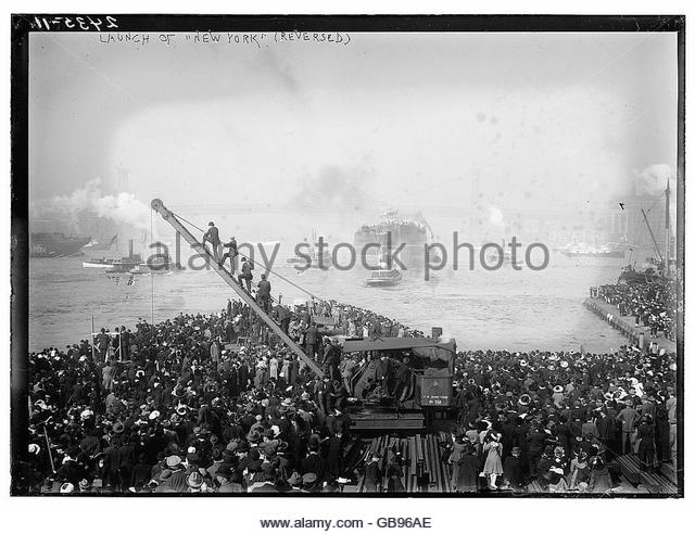Launch of NEW YORK (reversed) - Stock Image