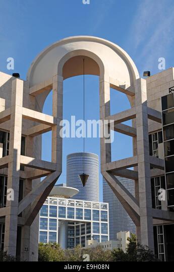 Performing arts center, Tel Aviv, Israel - Stock Image