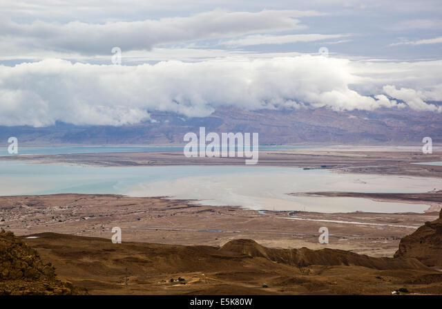 Dead Sea, Israel view from the Judaea Desert - Stock Image