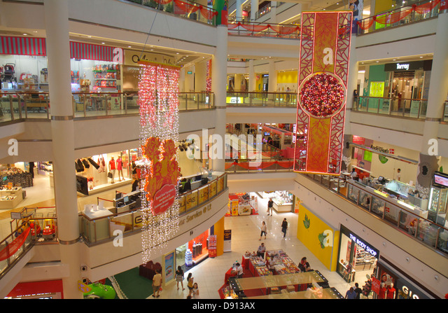 Singapore City Square Mall shopping for sale retail display store business inside interior - Stock Image