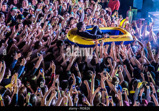 Detroit, Michigan, USA. 4th Mar, 2016. HOODIE ALLEN performing on his Happy Camper Tour at The Fillmore in Detroit, - Stock Image