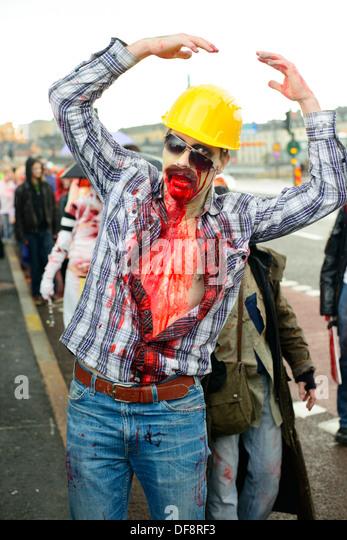 2013 Stockholm Zombie Walk - Stock Image