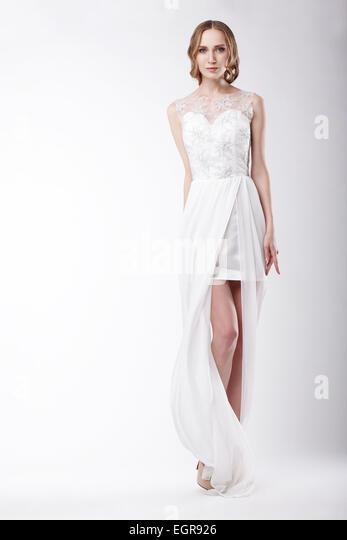 Beautiful Young Woman Wearing Festive Dress - Stock Image