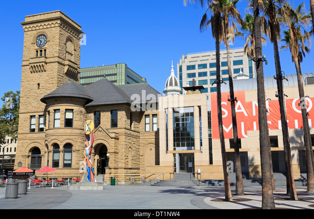 Museum of Art, San Jose, California, United States of America, North America - Stock Image