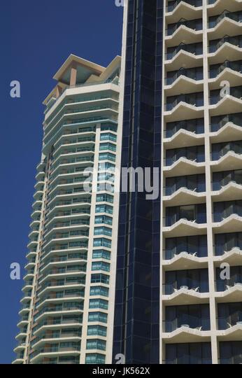 Australia, Queensland, Gold Coast, Surfer's Paradise, Downtown Highrises, - Stock Image