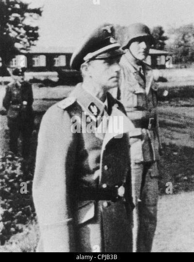 SS Leader Schellenberg and Skorzeny - Stock-Bilder