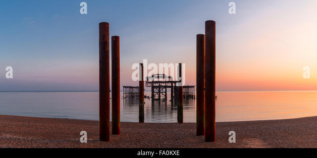 Panorama of West Hove, East Sussex - Stock Image