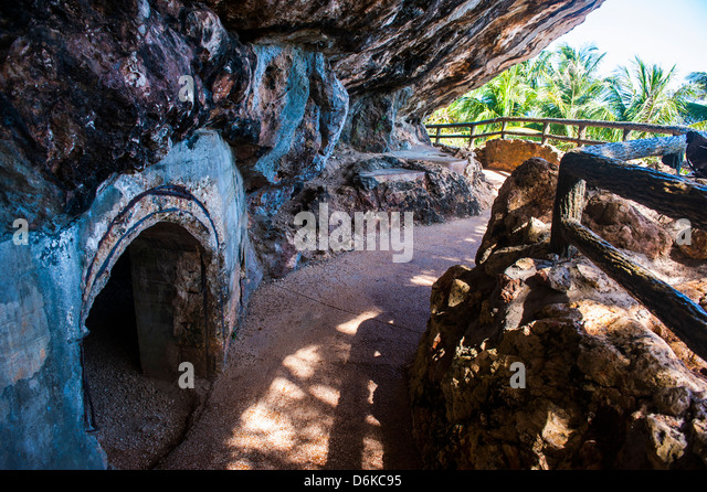 Last Japanese Command Post from World War II, Saipan, Northern Marianas, Central Pacific, Pacific - Stock Image