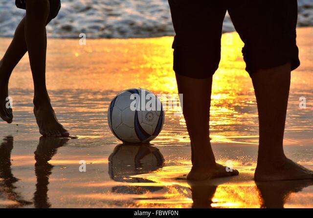 A romance with football. - Stock-Bilder