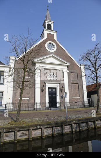 Nicolaaskerk, church, Edam, The Netherlands - Stock Image